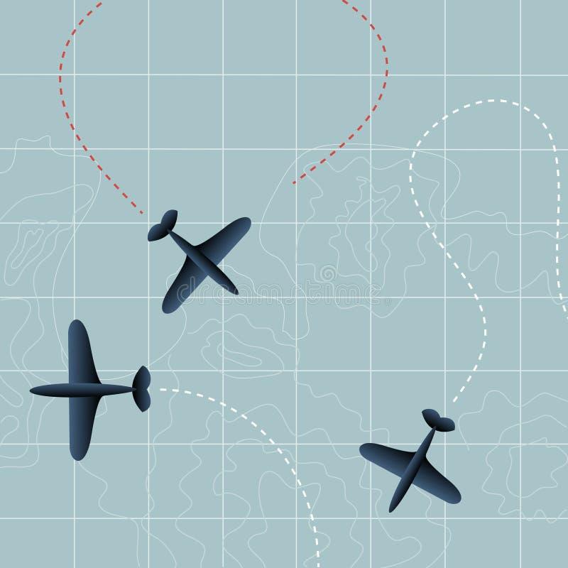 Vliegende vliegtuigen vector illustratie