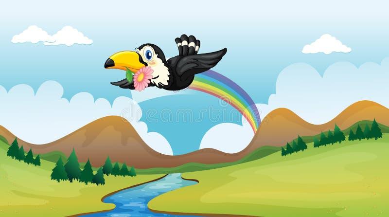 Vliegende vogel vector illustratie