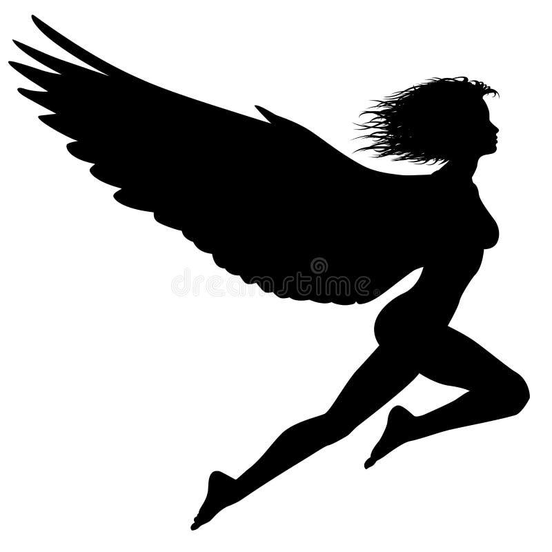 Vliegende vrouw vector illustratie