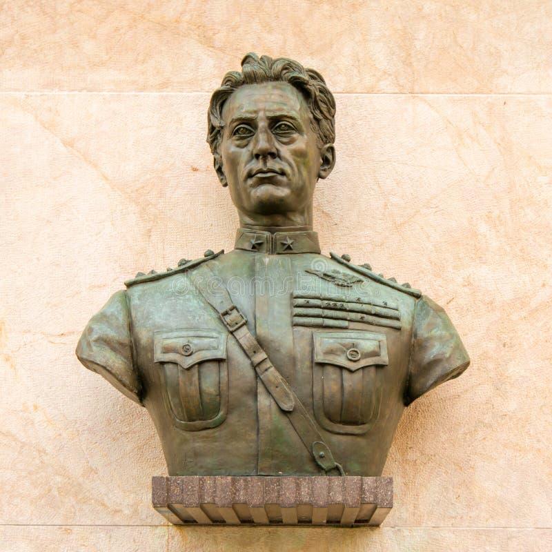 Vliegenier Statue in de Stad stock afbeelding