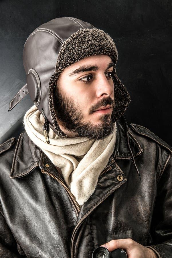 Vliegeniers oude stijl stock fotografie
