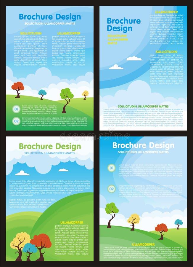 Vlieger - Brochure met Beeldverhaalstijl vector illustratie