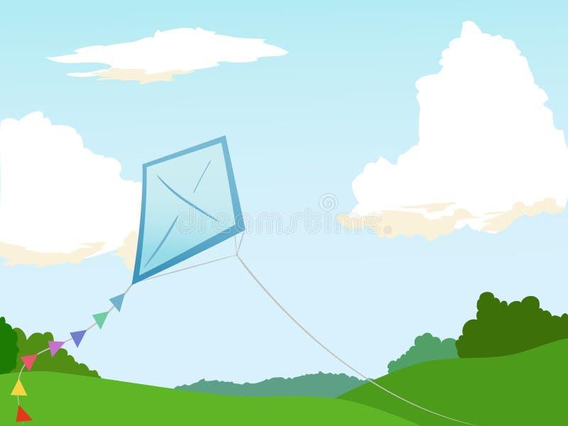 Vlieger in de hemel vector illustratie