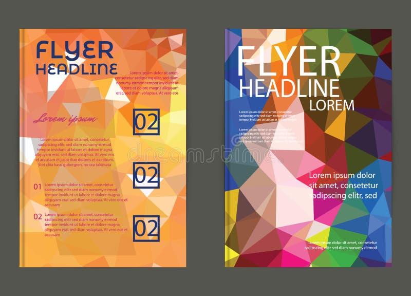 Vlieger, de Malplaatjes van het Brochureontwerp Geometrische Driehoekige Samenvatting royalty-vrije illustratie