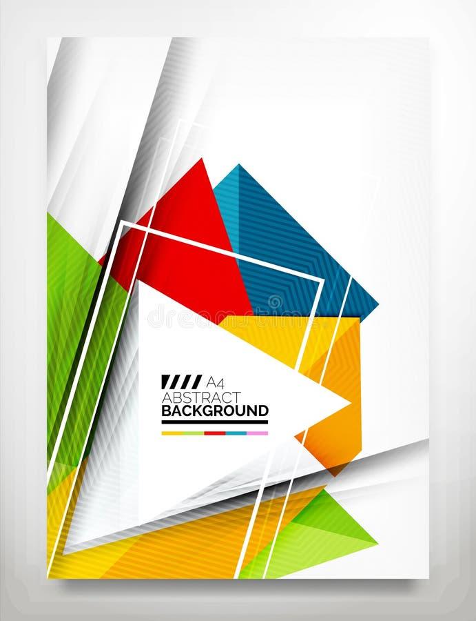 Vlieger, het Malplaatje van het Brochureontwerp vector illustratie