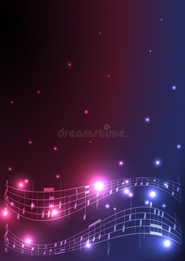 Vlieger met muzieknoten - eps 10 royalty-vrije illustratie