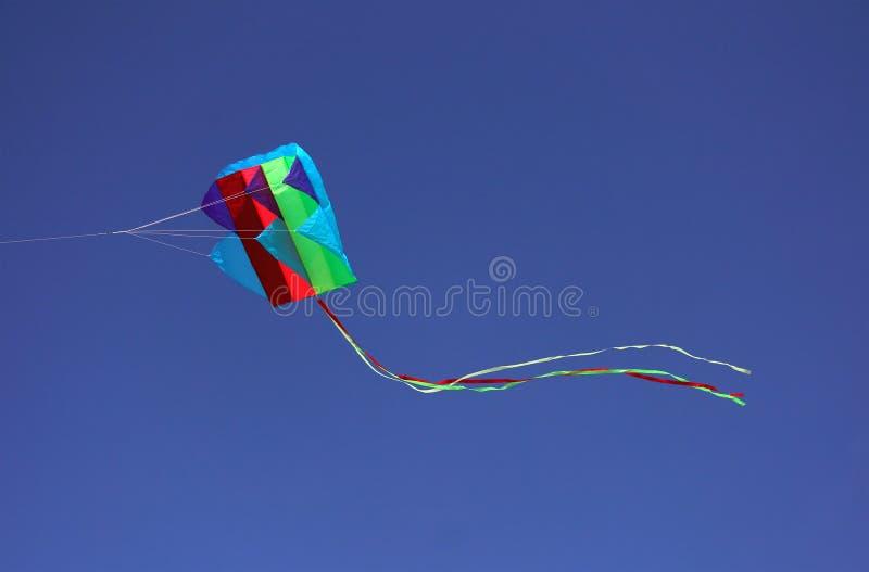 Vlieger tijdens de vlucht royalty-vrije stock foto