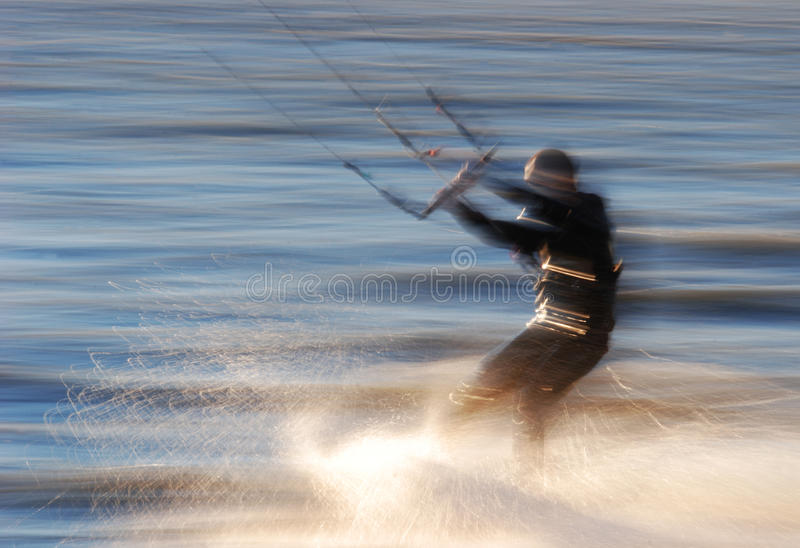 Vlieger -vlieger-surfer stock foto
