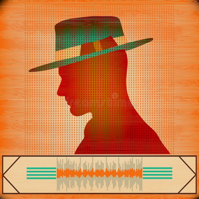 Vlieger voor een Indie-Club of de Reeks van DJ vector illustratie