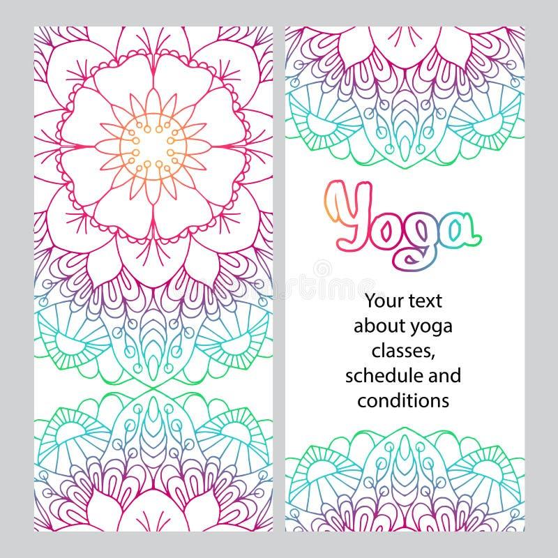 Vlieger voor yoga Gekleurde decoratieve Mandala vector illustratie