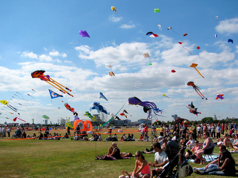 Vliegerfestival, Portsmouth, Hampshire, Engeland royalty-vrije stock afbeelding