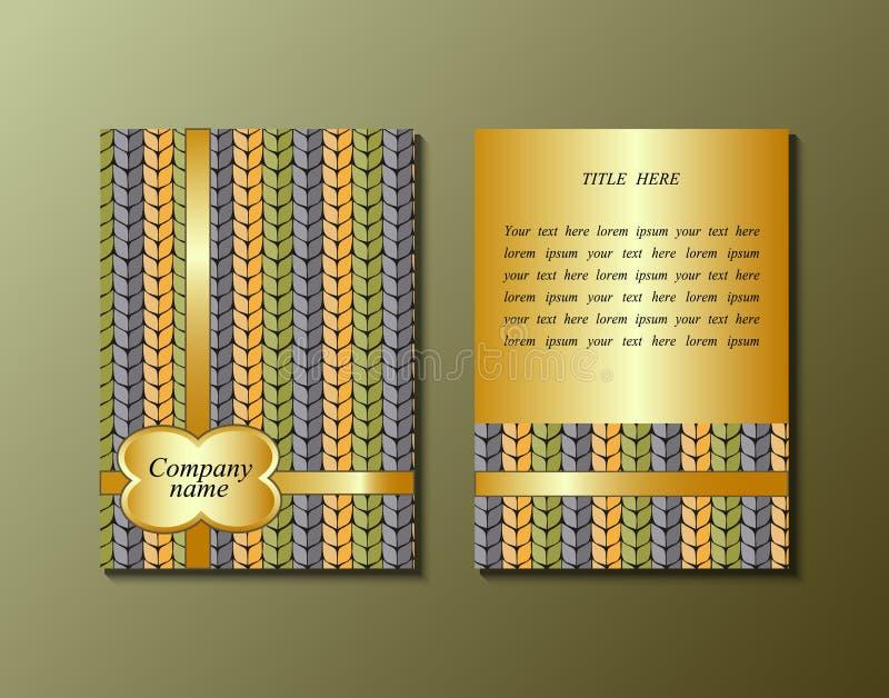 Vliegermalplaatje met het breien van patroon royalty-vrije illustratie
