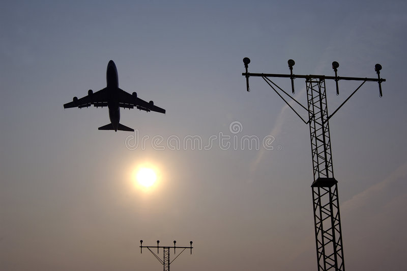 Vliegtuig 2 royalty-vrije stock afbeelding