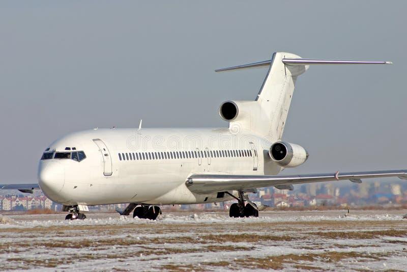 Vliegtuig Boeing 727 stock afbeeldingen