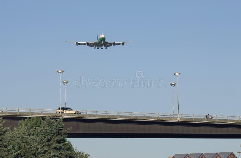 Vliegtuig Boeing 747 stock foto's