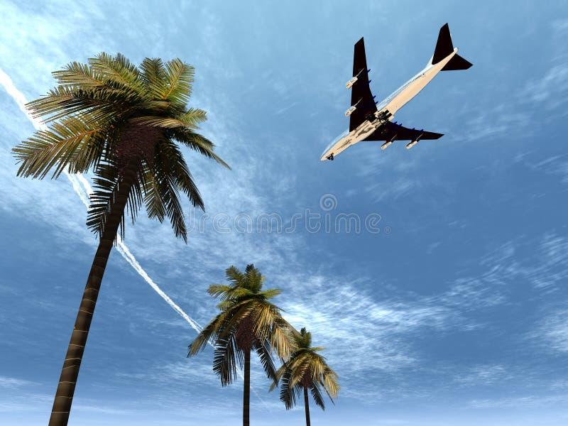 Vliegtuig dat 24 vliegt royalty-vrije illustratie