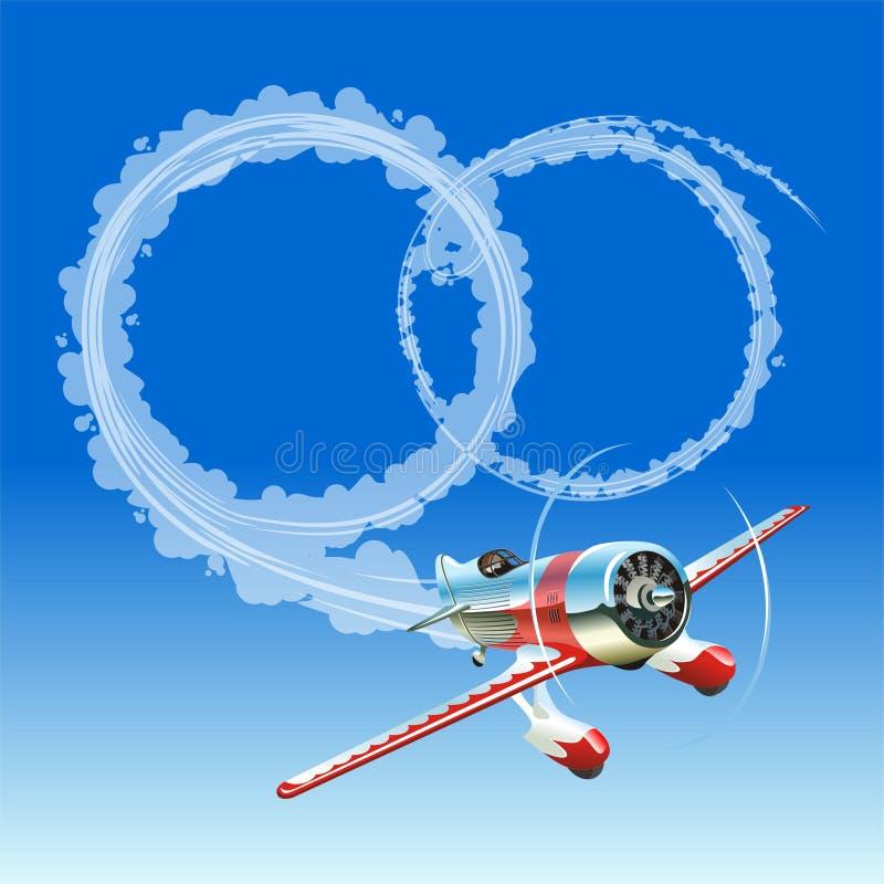 Download Vliegtuig Dat Huwelijksbericht Verzendt Vector Illustratie - Illustratie bestaande uit grappig, paar: 10775225