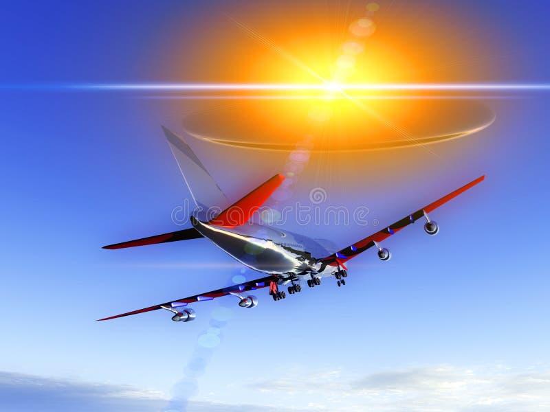 Vliegtuig dat met UFO 58 vliegt stock foto