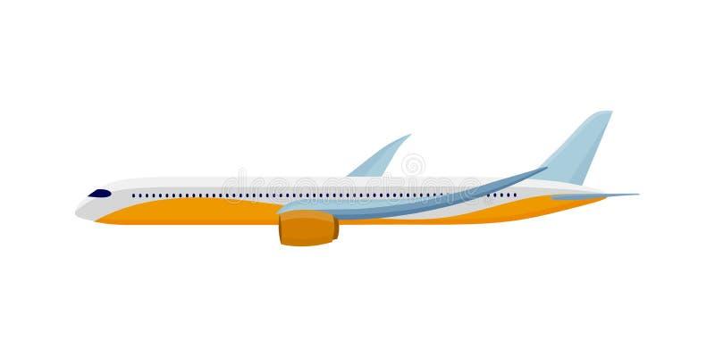 Vliegtuig dat op Wit wordt geïsoleerdh Het concept van de luchtreis stock illustratie