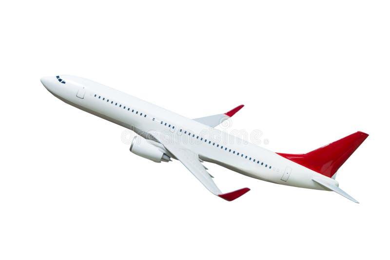Vliegtuig dat op wit wordt geïsoleerdn stock foto