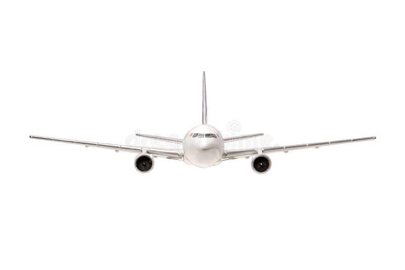 Vliegtuig dat op witte achtergrond wordt geïsoleerd$ Alle belevingswaarde voor de ontwerper royalty-vrije stock foto