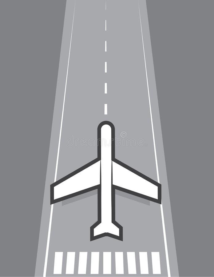 Of Vliegtuig Die Landen Opstijgen Royalty-vrije Stock Afbeelding