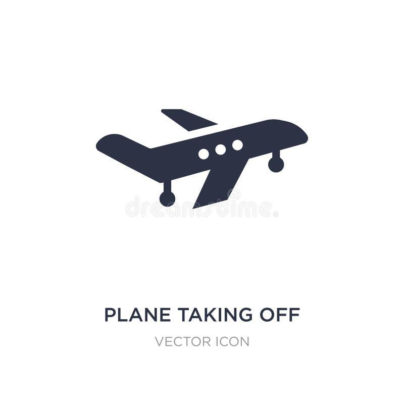 vliegtuig die pictogram op witte achtergrond van start gaan Eenvoudige elementenillustratie van Vervoerconcept vector illustratie