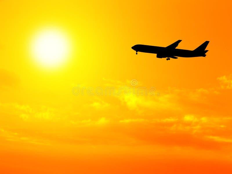 Vliegtuig en hemel