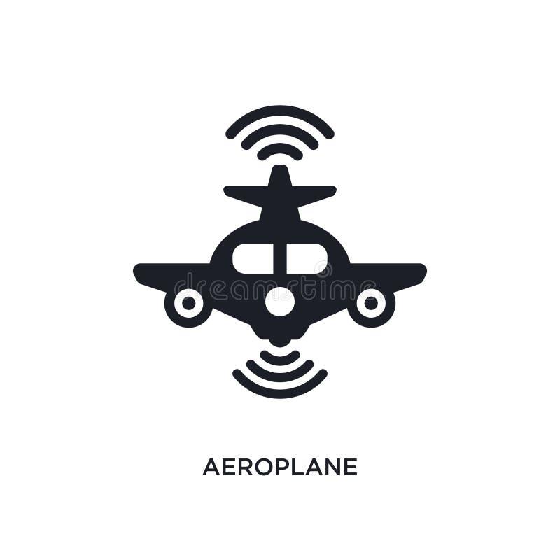 vliegtuig geïsoleerd pictogram eenvoudige elementenillustratie van de pictogrammen van het kunstmatige intelligentieconcept teken vector illustratie