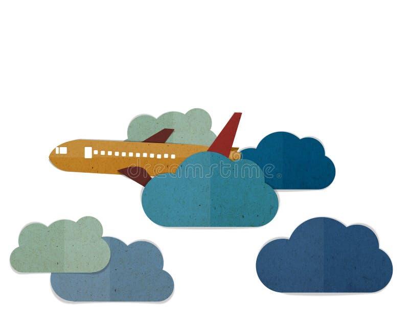 Vliegtuig het vliegen stock illustratie