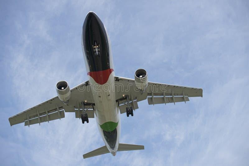 Vliegtuig lucht stock afbeelding