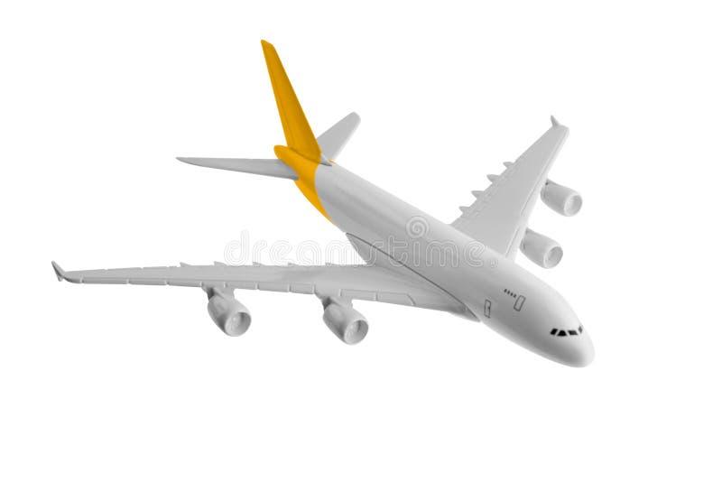 Vliegtuig met gele kleur royalty-vrije stock foto