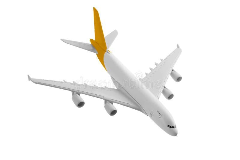Vliegtuig met gele kleur stock foto