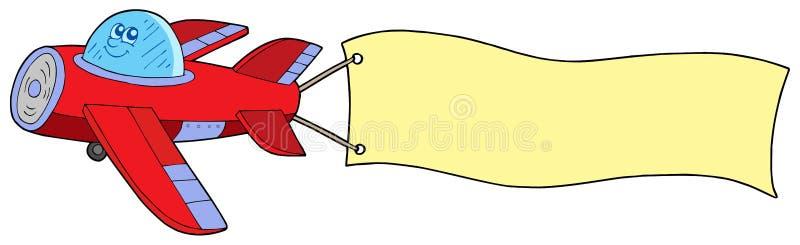 Vliegtuig met reclame vector illustratie