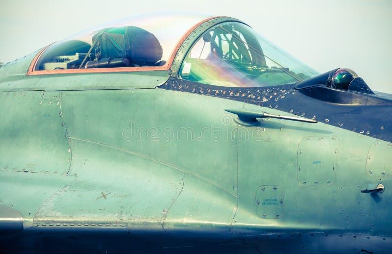 Vliegtuig mig-29 bij airshow royalty-vrije stock afbeelding