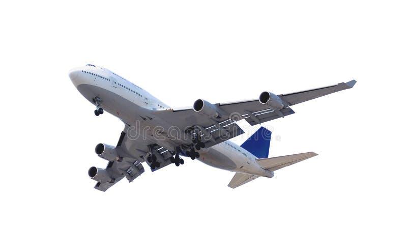 Vliegtuig op wit royalty-vrije stock foto's