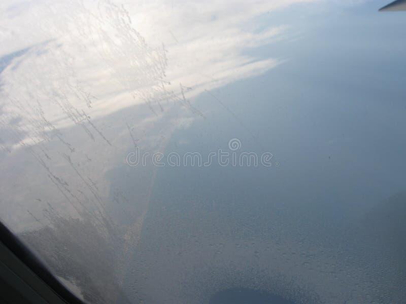 Vliegtuig Overzeese Mooie Hemelvlieg royalty-vrije stock fotografie