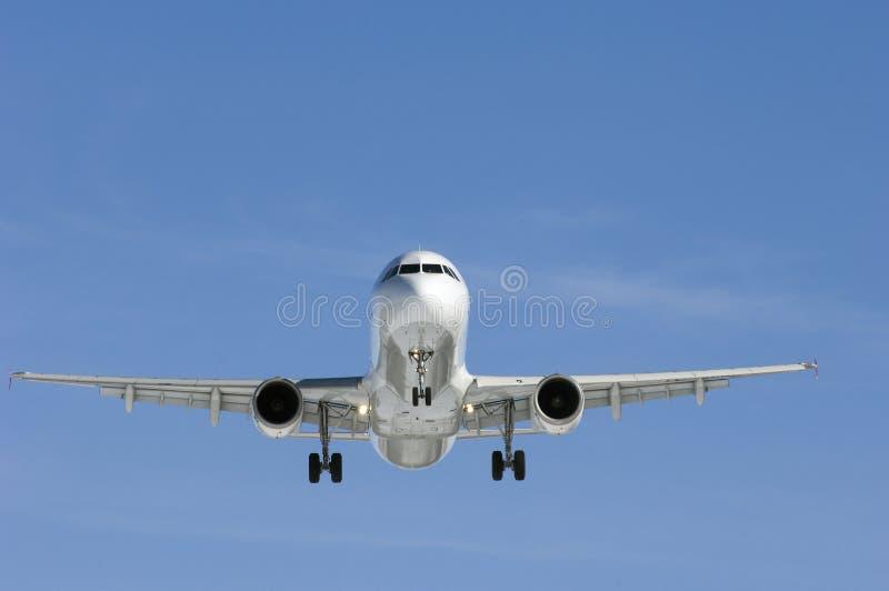 Vliegtuig in perfect licht royalty-vrije stock foto