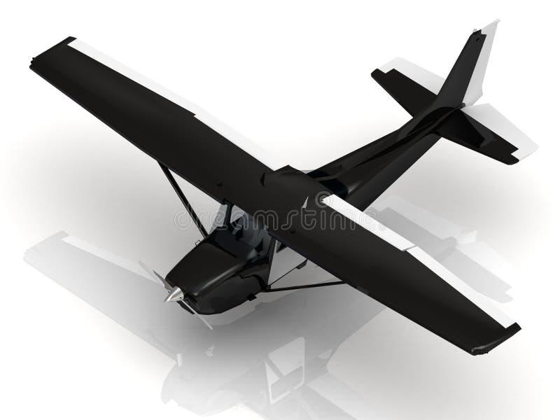 Vliegtuig tijdens airshow stock illustratie