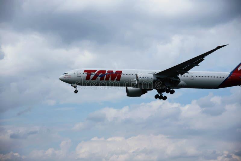 Vliegtuig van AIR TAM royalty-vrije stock foto