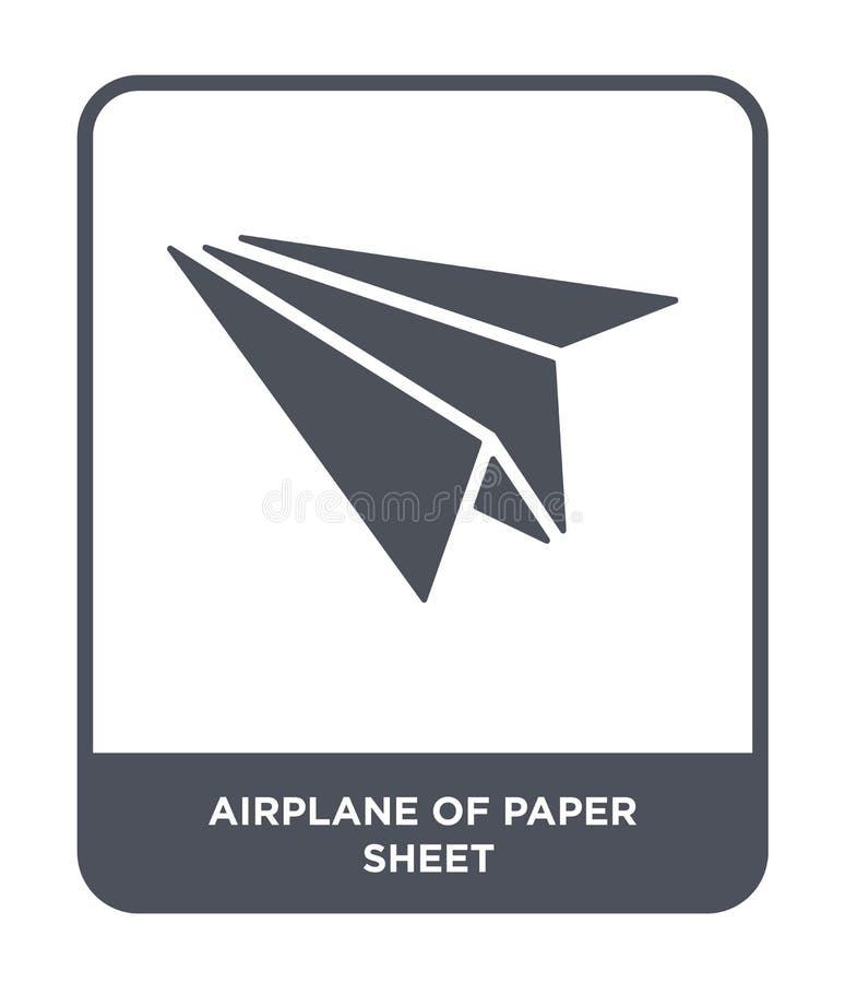 vliegtuig van document bladpictogram in in ontwerpstijl vliegtuig van document bladpictogram op witte achtergrond wordt geïsoleer vector illustratie