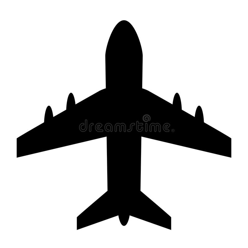 Vliegtuig vectorpictogram royalty-vrije illustratie