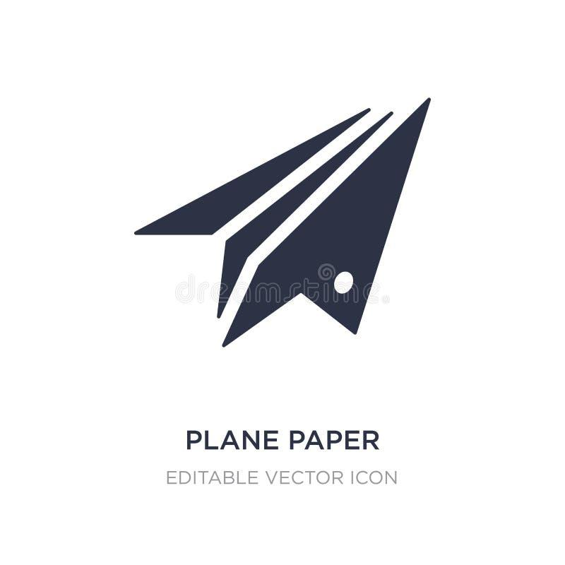 vliegtuigdocument pictogram op witte achtergrond Eenvoudige elementenillustratie van Algemeen concept royalty-vrije illustratie