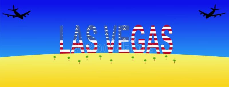 Vliegtuigen die aan Las Vegas vliegen vector illustratie