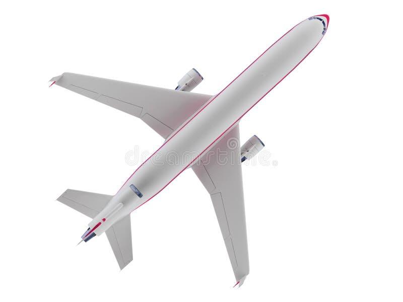 Vliegtuigen geïsoleerder mening royalty-vrije illustratie