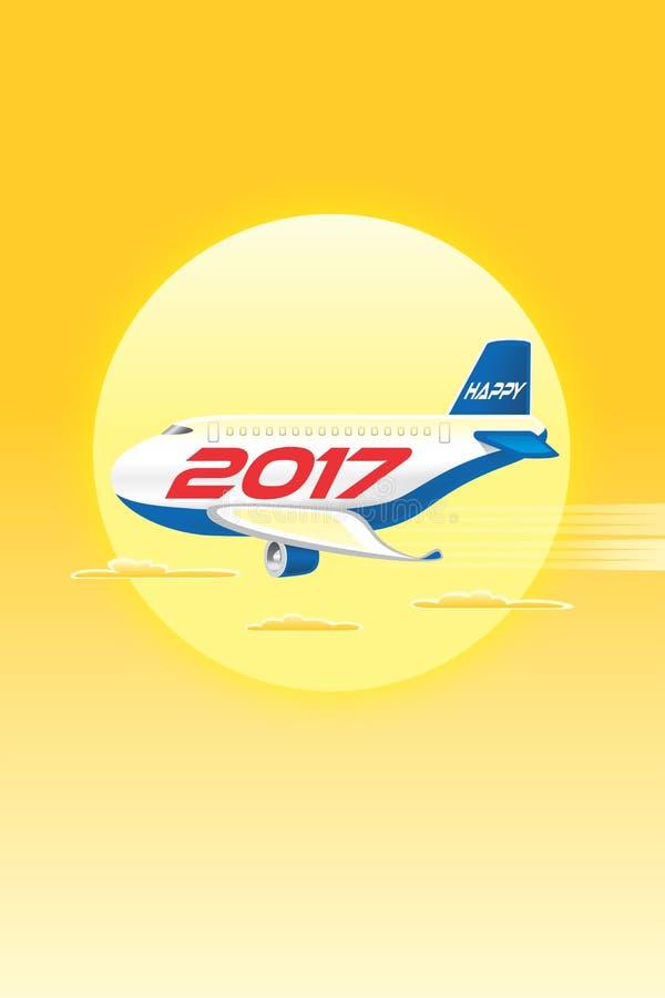 Vliegtuigen Gelukkige 2017_JAK-3 vector illustratie
