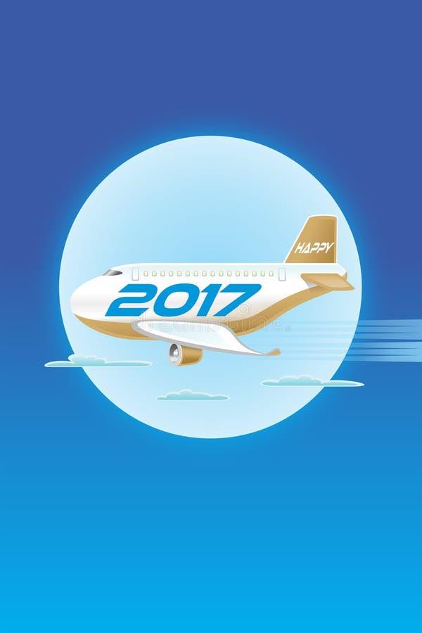 Vliegtuigen Gelukkige 2017_JAK-4 royalty-vrije illustratie