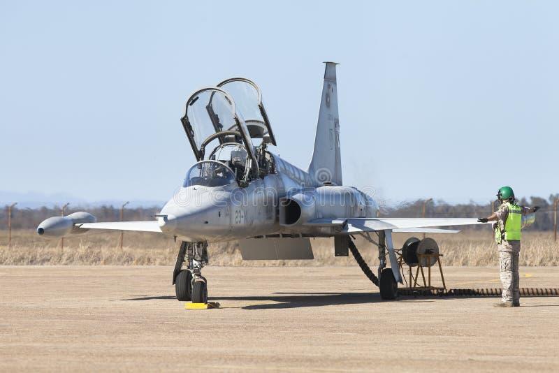 Vliegtuigen Northrop F-5 Vrijheidsvechter stock afbeelding