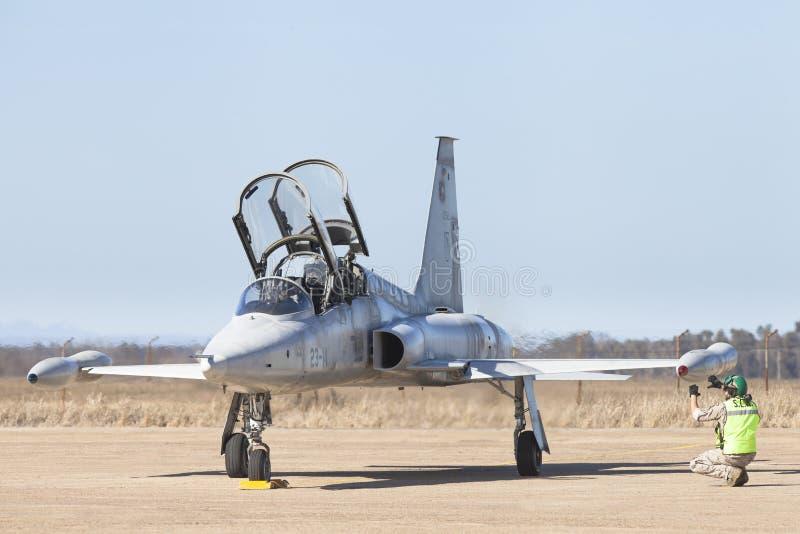 Vliegtuigen Northrop F-5 Vrijheidsvechter royalty-vrije stock afbeeldingen