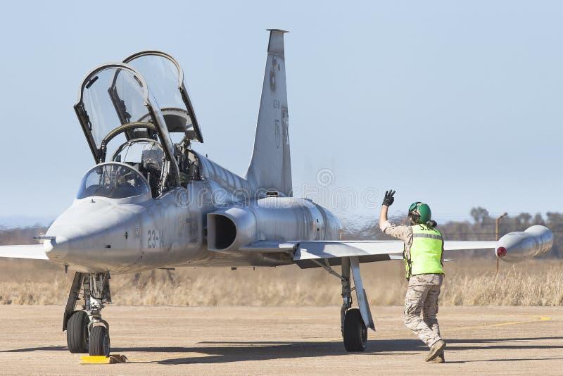 Vliegtuigen Northrop F-5 Vrijheidsvechter royalty-vrije stock foto